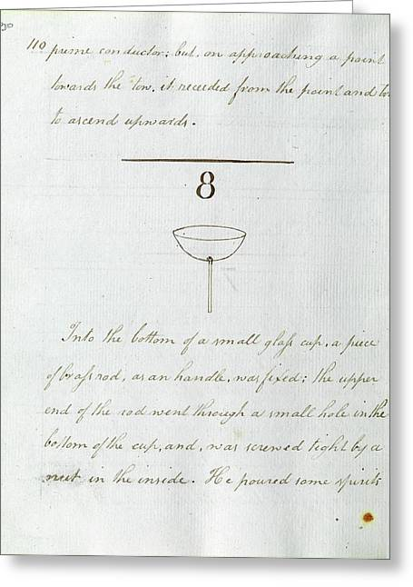 Faraday's Notes On Tatum's Lectures Greeting Card