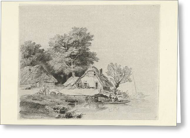 Farm Waterfront, Remigius Adrianus Haanen Greeting Card