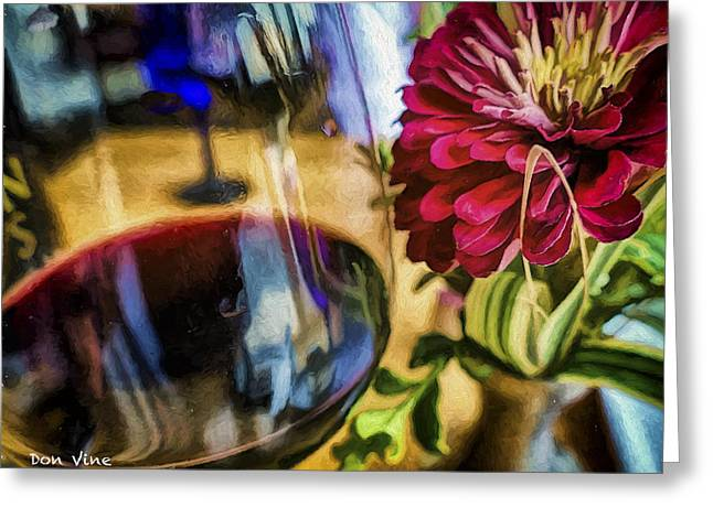 Farmhouse Red And A Zinnia Greeting Card