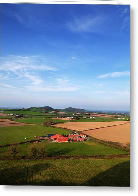 Farmland To The East Of Dunamace Greeting Card