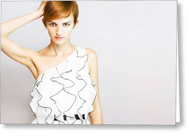 Fashion Copyspace Greeting Card by Jorgo Photography - Wall Art Gallery