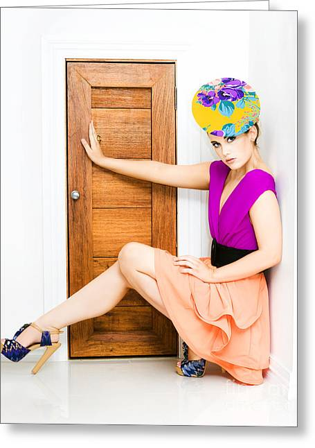 Fashion Police Blocking Doorway Greeting Card by Jorgo Photography - Wall Art Gallery