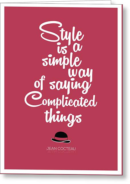 Fashion Quote By Jean Cocteau French Poet Quotes, Poster Greeting Card