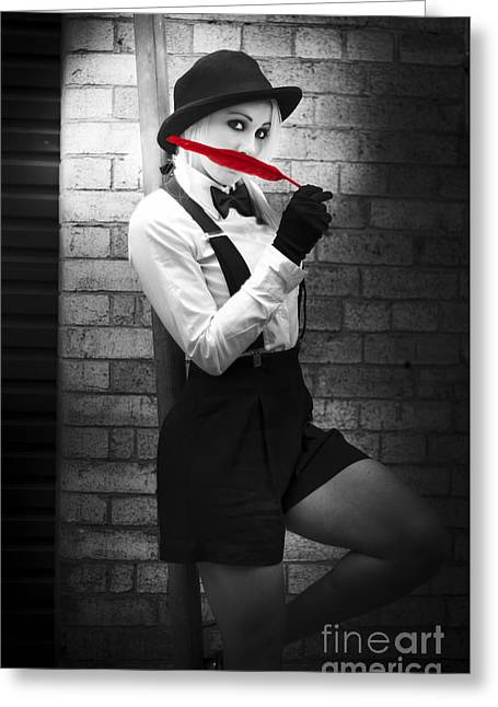 Fashion Trends - Red Is The New Black Greeting Card by Jorgo Photography - Wall Art Gallery
