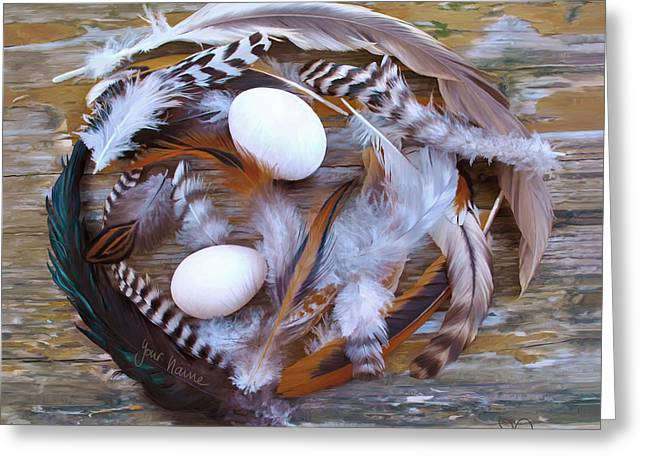 1. Feather Wreath Example Greeting Card