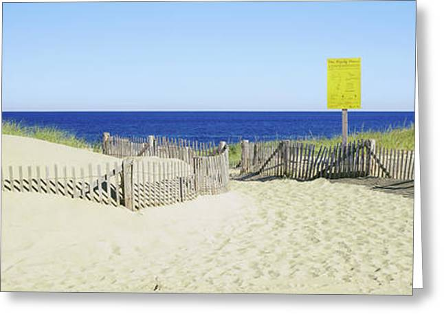 Fence On The Beach, Cape Cod Greeting Card