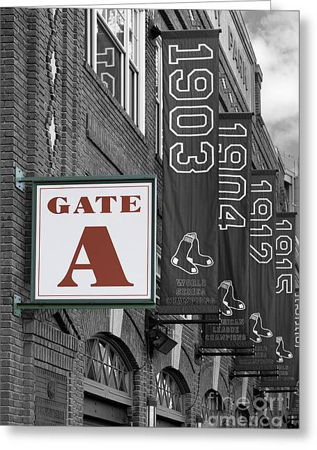 Fenway Park Gate A Greeting Card
