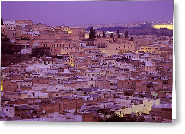 Fes, Morocco Greeting Card by Panoramic Images