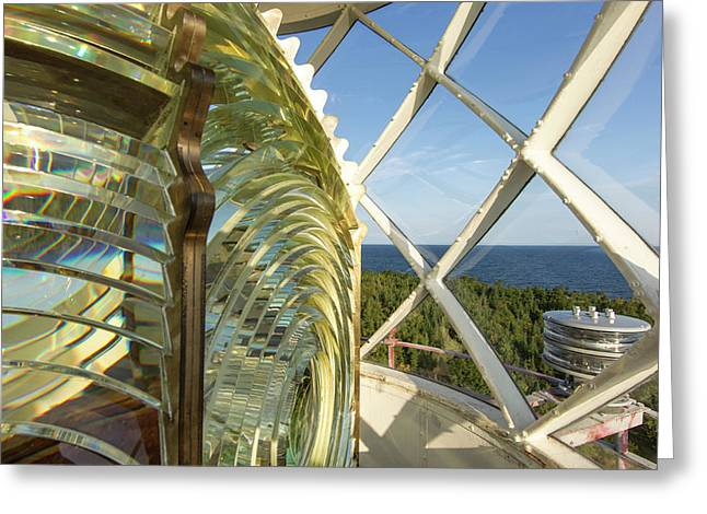 Fesnel Lens Of The Devils Island Greeting Card by Chuck Haney