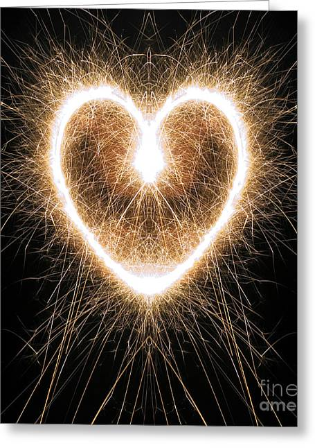 Fiery Heart Greeting Card