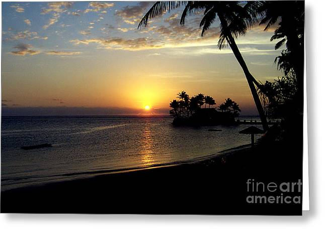 Fijian Sunset Greeting Card