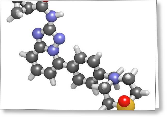 Filgotinib Anti-inflammatory Molecule Greeting Card by Molekuul