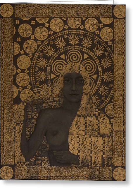 Fin-de-siecle Goddess Greeting Card by Diana Perfect