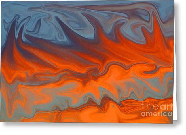 Fire Greeting Card by Carol Lynch