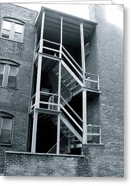 Fire Escape Greeting Card by MB Matthews