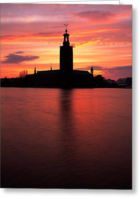 Fire In The Sky Greeting Card by Viacheslav Savitskiy