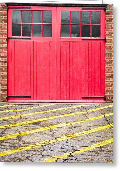 Fire Station Greeting Card
