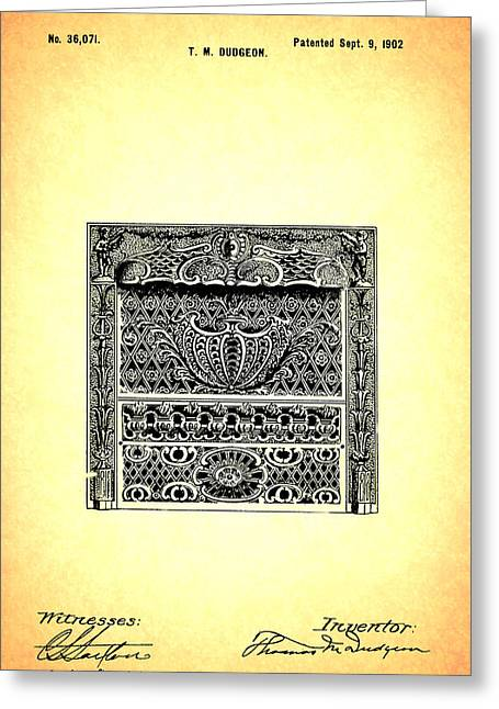Fireplace Front Patent 1902 Greeting Card