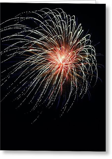 Greeting Card featuring the photograph Fireworks At St Albans Bay by R B Harper