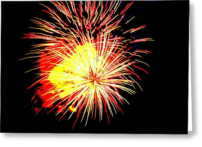Fireworks Over Chesterbrook Greeting Card by Michael Porchik