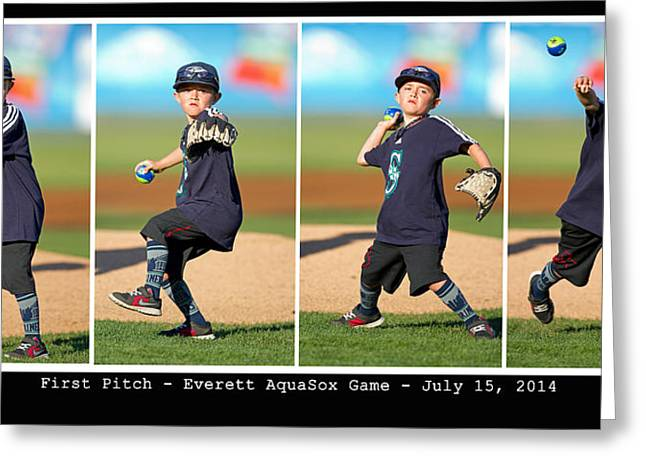 First Pitch Greeting Card