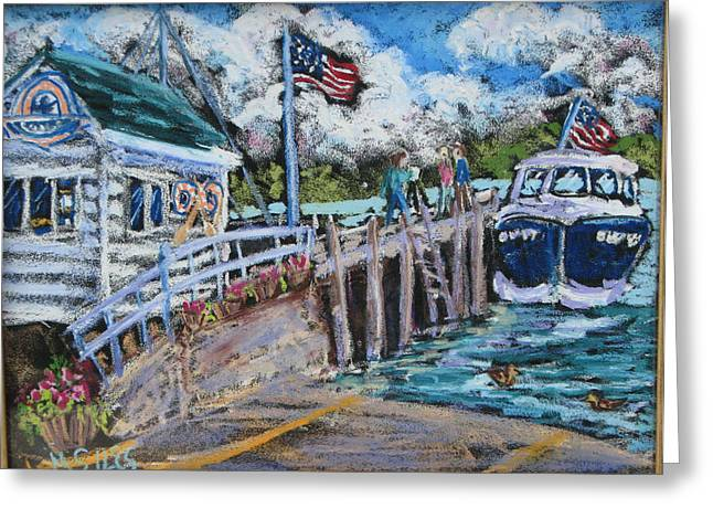 Fish Creek Boat Launch Greeting Card by Madonna Siles