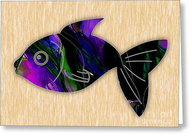 Fish Painting Greeting Card by Marvin Blaine