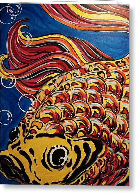 Fish Greeting Card by Paula Shaughnessy