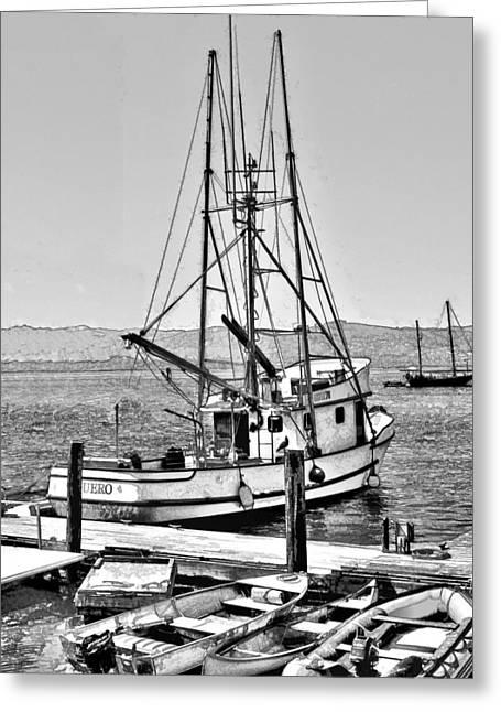 Fishing Boat Aquero Greeting Card