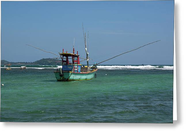 Fishing Boat At Anchor, Matara Greeting Card