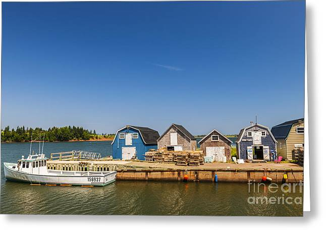Fishing Dock In Prince Edward Island  Greeting Card
