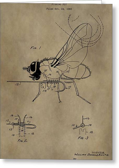 Fishing Fly Patent Greeting Card