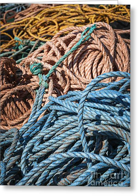 Fishing Ropes Greeting Card by Elena Elisseeva