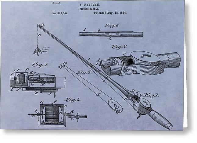 Fishing Tackle Patent Greeting Card