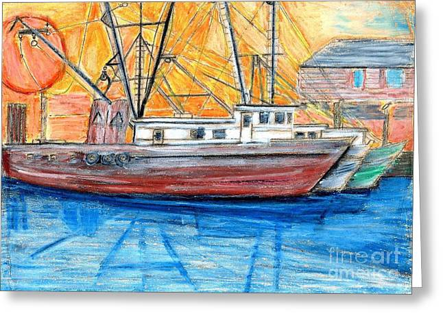 Fishing Trawler Greeting Card