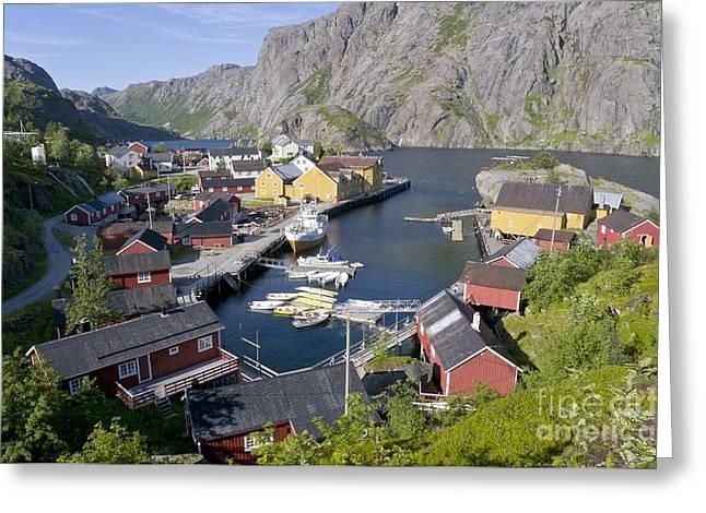 Fishing Village, Norway Greeting Card