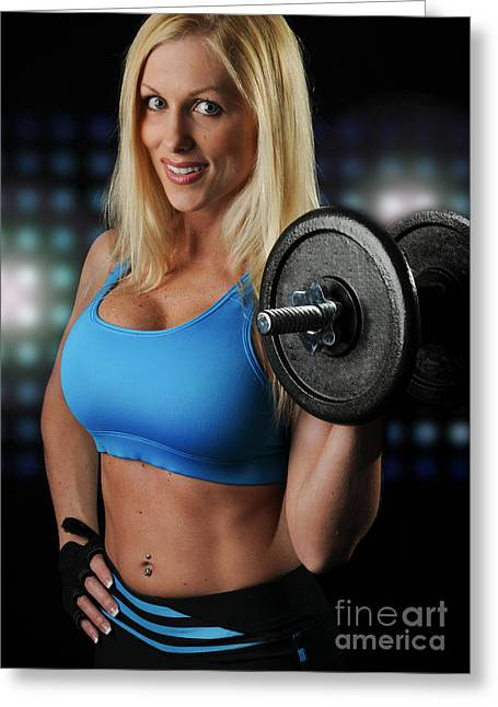 Fitness Model Greeting Card