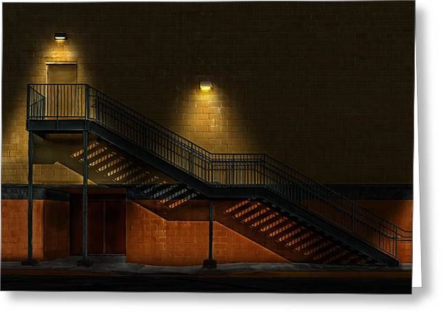 Shadowy Staircase Greeting Card