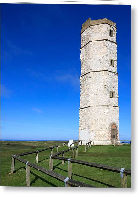 Flamborough Old Lighthouse Greeting Card