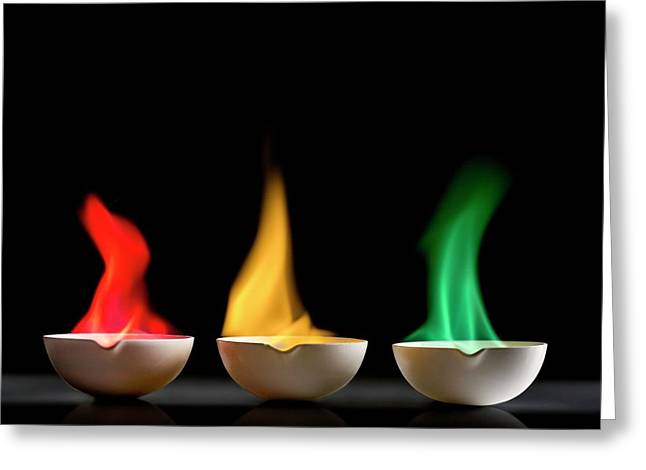 Flame Tests Greeting Card