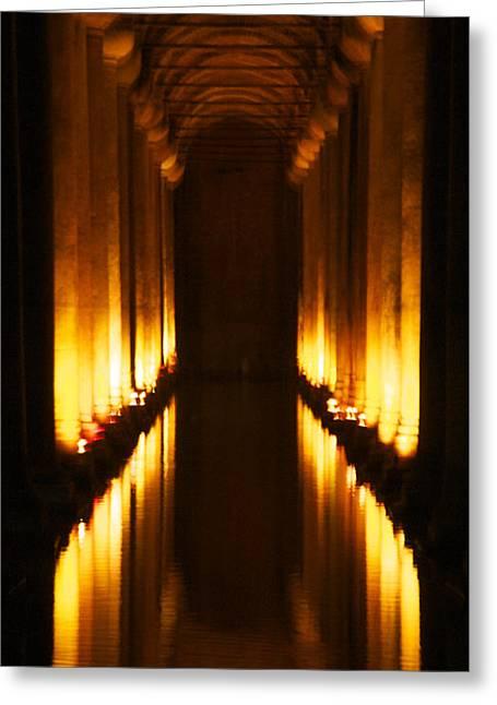 Flaming Passage Greeting Card by Cheri Randolph