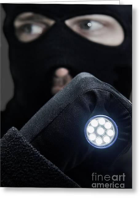 Flashlight Fugitive Greeting Card by Jorgo Photography - Wall Art Gallery