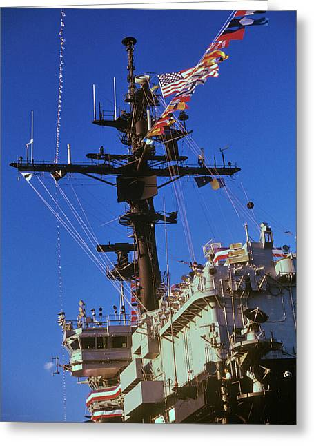 Flight Deck Of The Uss Kennedy Aircraft Greeting Card