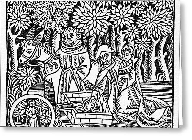 Flight Into Egypt Greeting Card by Granger