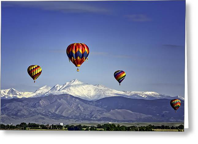 Floating Above Long's Peak Greeting Card