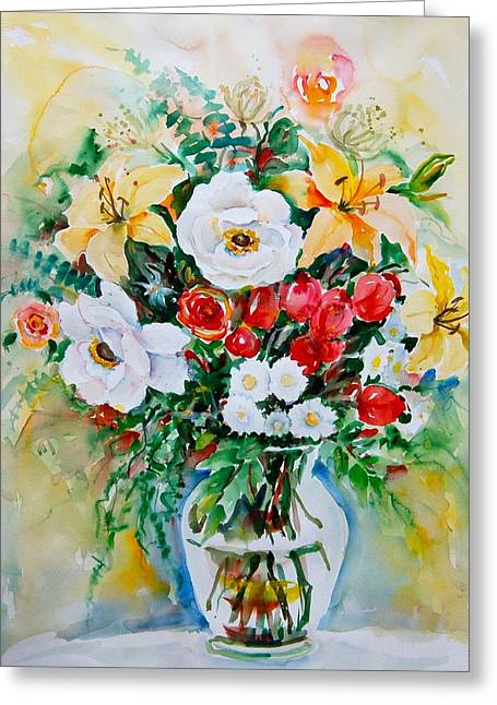 Floral Arrangement IIi Greeting Card