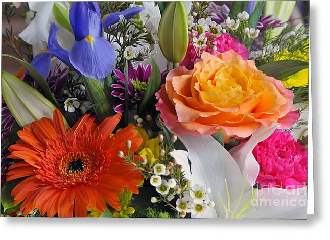 Floral Bouquet 5 Greeting Card by Sharon Talson