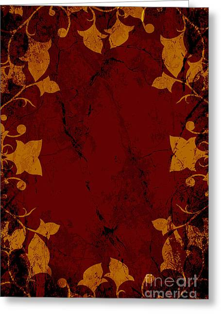 Floral Darkness Greeting Card