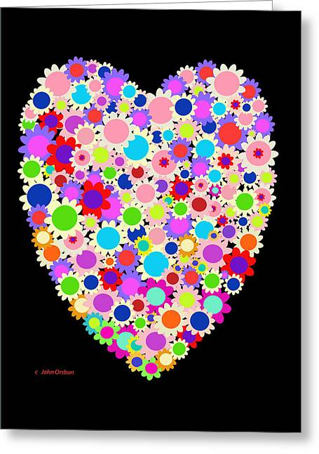 Floral Heart Valentine Greeting Card