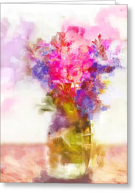 Greeting Card featuring the painting Floral Still Life by Linde Townsend